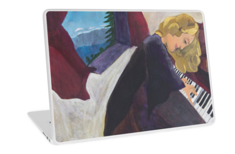 Piano laptop skin